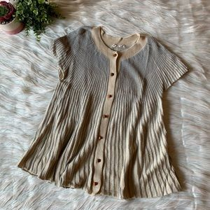 Anthropologie Moth Short Sleeve Flare Knit Cardi